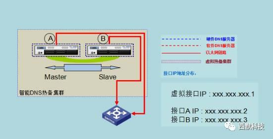 内蒙古民族学院DNS域名服务系统建设部署拓扑结构